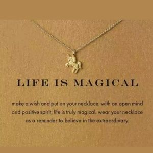 Jewelry - Life is Magical Unicorn Necklace